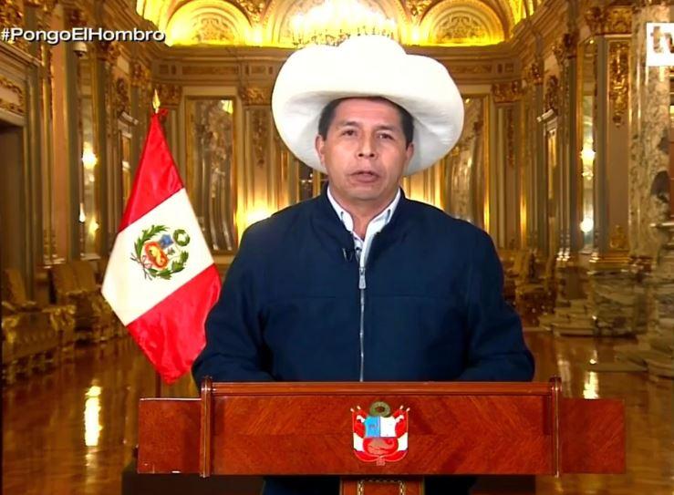 Pedro Castillo anuncia entrega bono familiar de S/. 350 a cada persona adulta