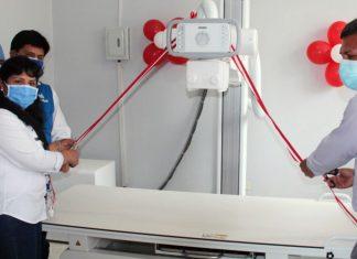 Primera dama participó en la entrega de un concentrador de oxígeno en el Vraem