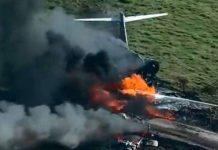 Avión se estrella con 21 personas a bordo y todas sobreviven