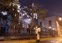 Refuerzan desinfección en alrededores de Las Nazarenas