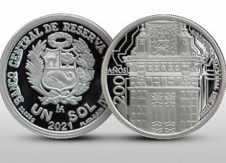 Moneda de un sol conmemorativa por los 200 años de creación de la Biblioteca Nacional del Perú