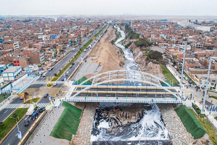 Inauguran puente vehicular sobre el río Rímac que une Lima y Callao