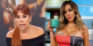 """La conductora de espectáculos Magaly Medina llamó """"vulgar"""" a la modelo. Además, dijo que es una """"envidiosa""""."""