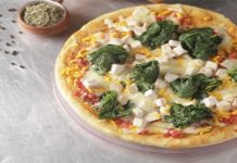 Pizza doble queso y espinaca