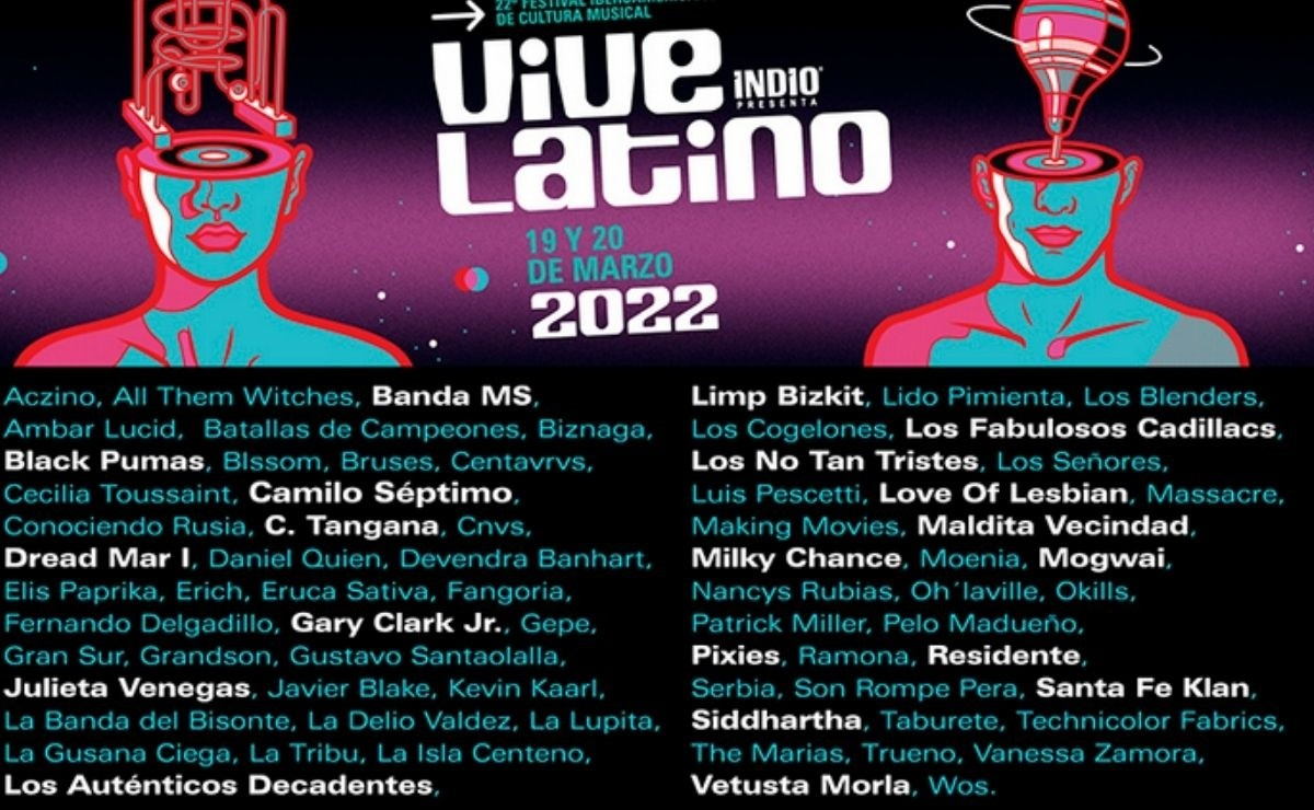 ¿Sabes qué artistas asistirán al festival Vive Latino 2022?